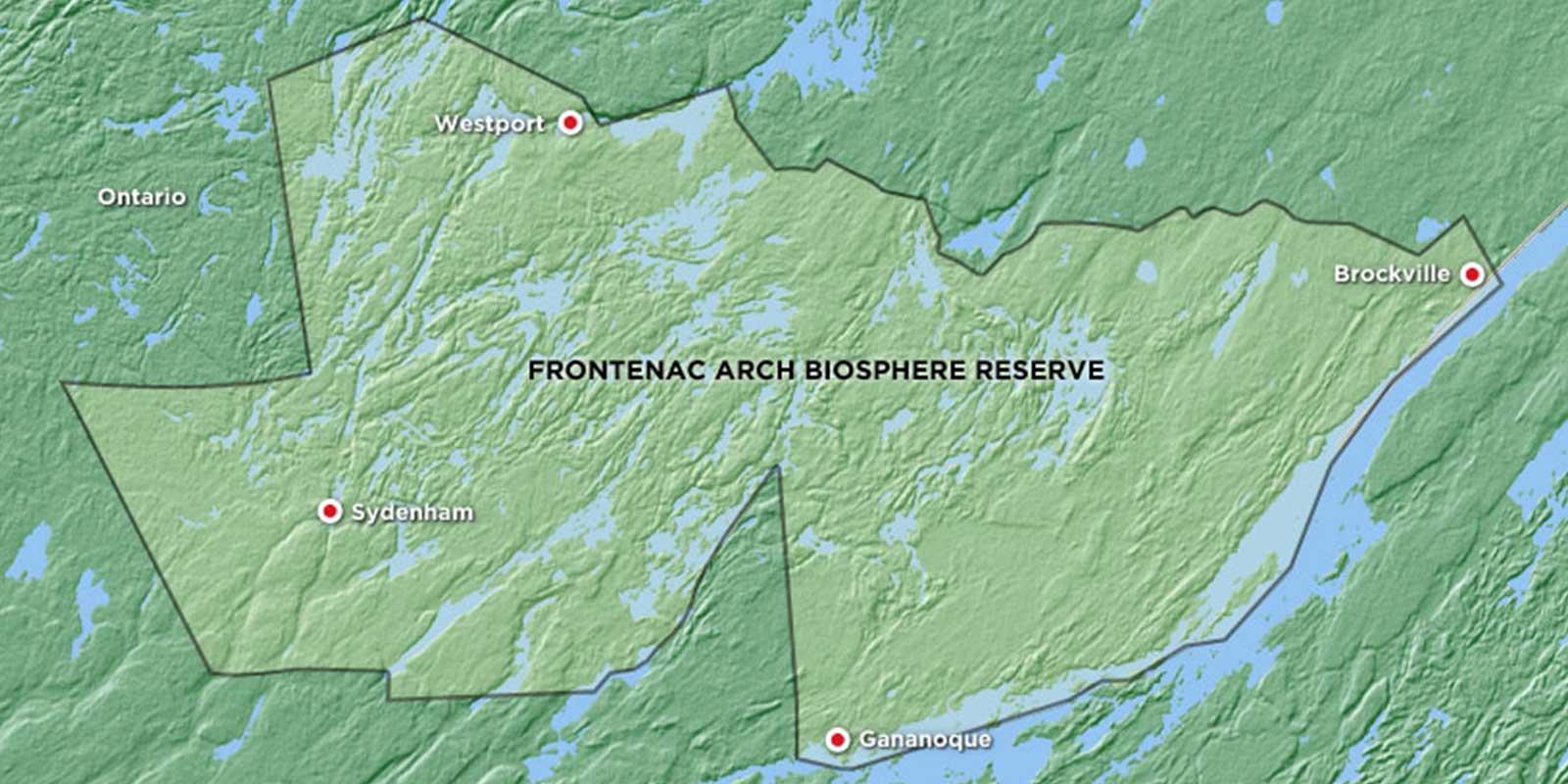 Map of the Frontenac Arch Biosphere